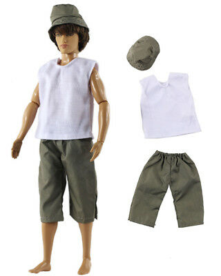 Dll clothing/Outfit/Tops+Pants+Hat For 12 inch Ken Doll Clothes B45