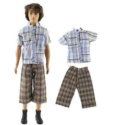 Dll clothing/Outfit/Tops+Pants For Barbie's BF Ken Doll Clothes B47