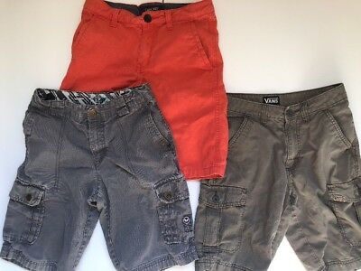 Boys Size 12 Shorts VANS Shawn White Cherokee (Lot Of 3)