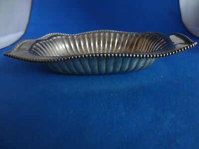 Vintage 925 Sterling Silver Dish With Ruffled and Beaded Edge,120 grams