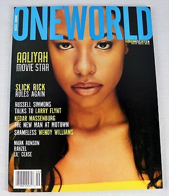 OneWorld Magazine Aaliyah May 1999 Slick Rick Kedar Wendy Williams OOP TopLoader