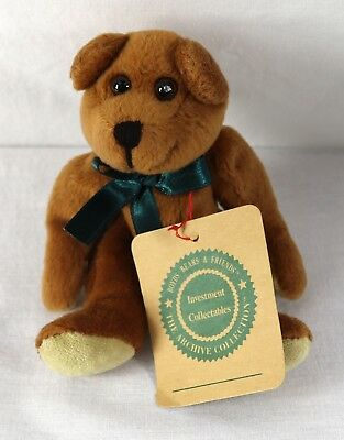 """Boyds Bears 1997 Investment Collection 6"""" Jointed Brown Bear Green Tie Retired"""