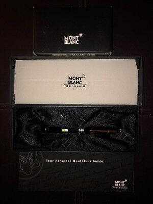 Montblanc  Meisterstuck 144 M Bordeaux  & Gold Fountain Pen New In Box+Black Ink