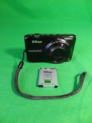 Nikon CoolPix S6500 WiFi 16MP Pocket Digital Black Used Camera - Free Shipping!