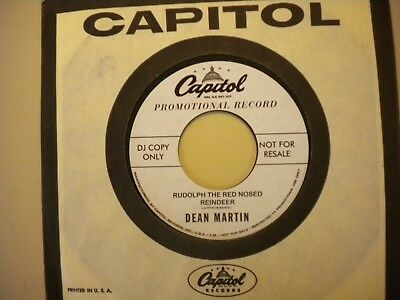 """7"""" Dean Martin Rudolph the red nosed reindeer USA christmas Let it snow REISSUE"""