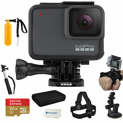 GoPro HERO7 Silver-with an Essential Accessory Kit Bundle, and Sd