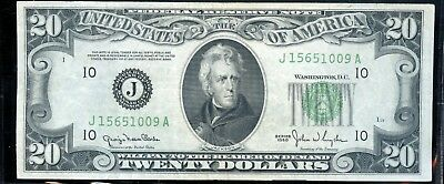 Divine Series 1950 United States Federal Reserve $20 Note YO788