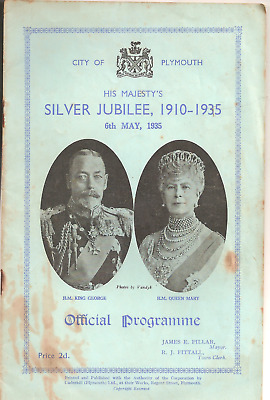 City Of Plymouth His Majesty's Silver Jubilee,1910-1935 Official Programme 1935