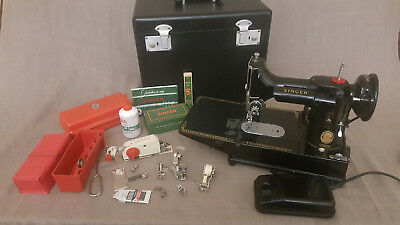 Singer Sewing Machine 222K Red S Featherweight with Accessories & warranty 110V