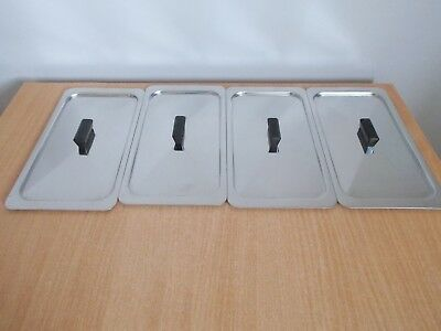 4 x Original Lids for Glasbake Hostess Trolley Dishes