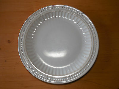 "Gibson REGENT PARK CREAM Dinner Plate 11"" Flutes Dots 1 ea   12 available"
