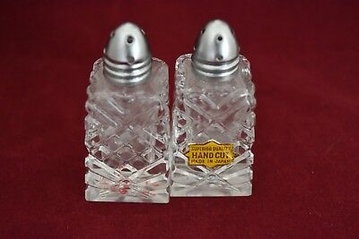 Vintage salt and  pepper shakers glass