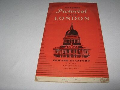 STANFORD'S PICTORIAL MAP of LONDON ,U.K. 1952