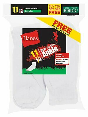 Pack of 6 The Children/'s Place Big Boys/' Ankle Socks L 3-6 Multi Clr 6259