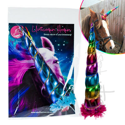 Clip On Unicorn Horn For Horse & Pony By Equifashion - Simply Clip To Brow Band