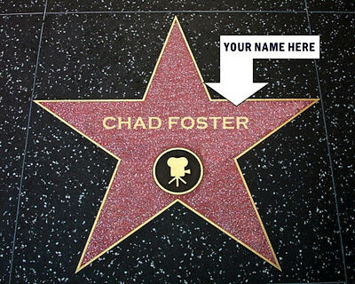 Personalized Hollywood Walk Of Fame Star Photo 8X10 Your Name On The Star