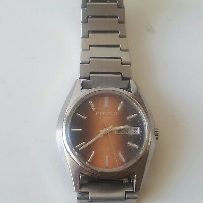 Vintage CITIZEN Automatic Herrenuhr ( Kaliber 6501 ) 35 mm - Tag / Datum Selten