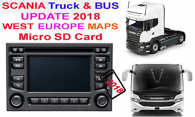 SCANIA Truck - SD AGGIORNAMENTO EUROPA OVEST 2018 - Map Update 2018 Europe West