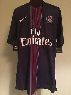 Official Bnwt Paris Saint-Germain Home Football Shirt By Nike Size Adult Medium