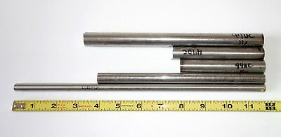 """5 x 440C Stainless Steel Round Rod 4""""- 12"""" long 3/8"""" 1/2"""" 5/8"""" 11/16""""  Bar Stock"""