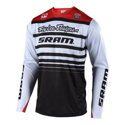 Troy Lee Designs 2018 Sprint SRAM Mens Bicycle Jersey White/Black