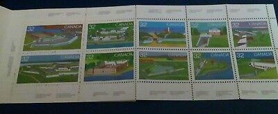 The Canada Mnh Booklet Pane 10 Stamps 1983 Scott # 983-992 Forts Across Canada#3