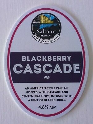 SALTAIRE brewery BLACKBERRY CASCADE cask beer ale pump clip front badge NEW