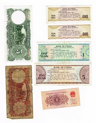 7 x Bank notes from China