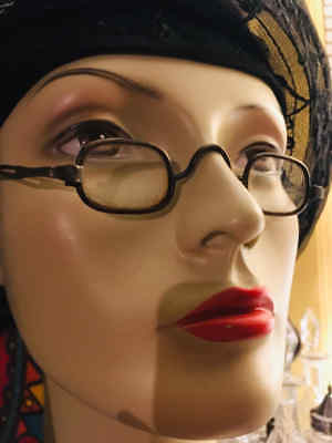 Antique 1800s Granny Glasses Telescoping Arms Steampunk loop ends to hook on wig