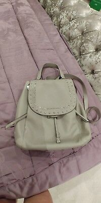 Michael Kors RILEY Large Backpack- Ash Grey  -100% authentic