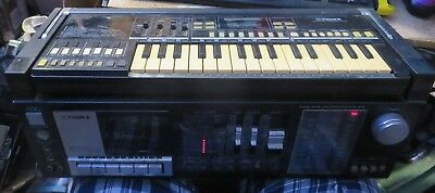 Rare Old School Fisher SC-300k AM FM SW Boombox detacheable SCK-30 Keyboard