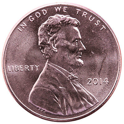 2014 Lincoln Shield Cent BU Penny US Coin