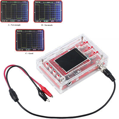 DSO138 Fully Welded 2.4 TFT Digital Oscilloscope (1Msps)+Probe Kit+ Clear Case