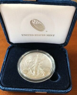 2018 Silver American Eagle. BU EAGLE DISPLAYED IN US MINT BOX. NEW ITEM!!