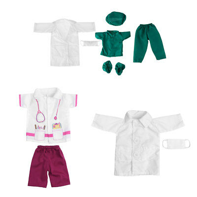 """Doll Doctor Nurse Clothes Outfit Set for 18"""" Our Generation My Life Boys Girls"""