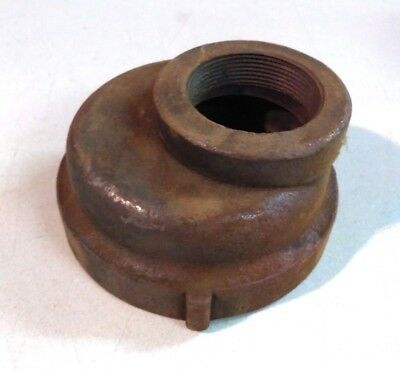 "Cast Iron  Threaded Eccentric Reducer Coupling 2"" x 3-1/2"""