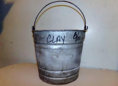 Vintage Galvanized Steel Bucket-Pail Rustic Farm Country Planter Display Deco