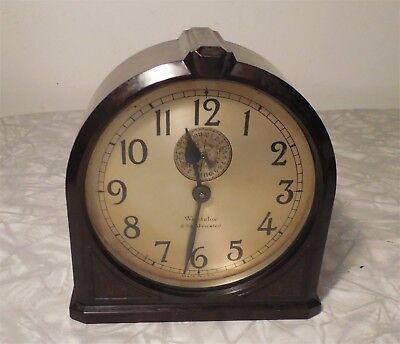 1930 Westclox 8-Day Jeweled Alarm Clock Model 68A with Bakelite Case