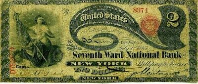 """1863 """"lazy Deuce"""" $2 Note ~Reproduction~"""