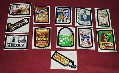 1973 Topps Wacky Packages Series 4 Milk-Foam Tan Back/1979 Wacky Packages Lot 11
