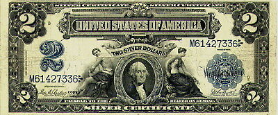 1899 $2 Silver Certificate *reproduction* Note