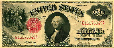 1917 $1 Red Seal United States Note ~Reproduction~