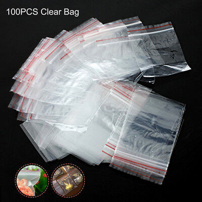 Grip Self Seal Clear Bags Small Plastic Resealable Zip Lock Polythene Poly Bag
