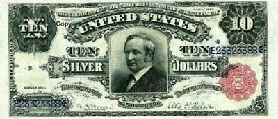 1891 $10 Tombstone Note ~Reproduction~
