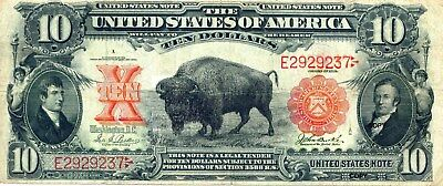 1901 $10 Bison Note ~Reproduction~