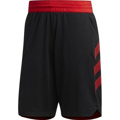 969dce2e370b Adidas Men s Accelerate 3-Stripes Basketball Shorts NEW Black Scarlet  Training