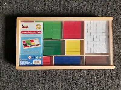 FUN FACTORY Wooden CUISENAIRE RODS - Brand New - EDUCATIONAL Early MATHS Aid 3+