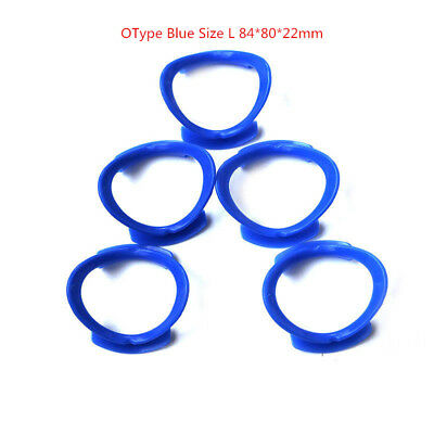 5PCS/Pack Dental Oral Cheek Lip Retractor Mouth Opener O Type Blue  84*80*22mm