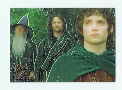 Lord of the Rings LOTR Trilogy Chrome - Promo Card #P1 Topps - 2004