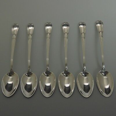 6 Concord Silversmiths Troubadour Frank Whiting Sterling Silver Demitasse Spoons